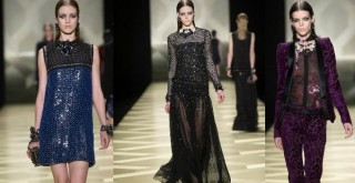 milano fashion week 2013,jast cavalli,passerella di roberto cavalli,borchiette e pellicce,collezione animelier,floreali mixate,pellicce,zaini